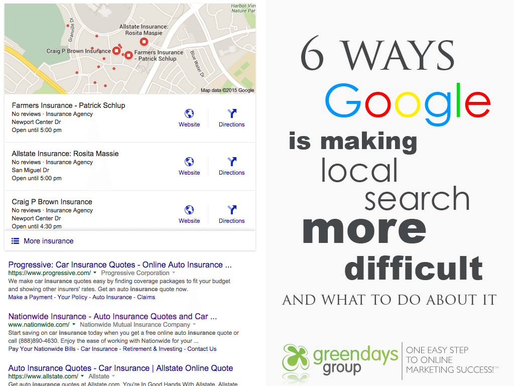 6 ways google is making local search more difficult - Six Ways Google is Making Local Search Marketing More Difficult